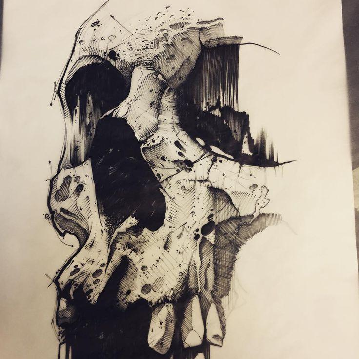 Power of Darkside. #ink #inked #tattoo #tattoos #tattooed #tattrx #btattooing #blackwork #dot #draw #drawing #equilattera #blackandwhite #blackworkers #iblackwork #dotwork #blxckink #sketch  #vsco #vscocam #darkartists #black #illustration #art #graphic #artoftheday #skull #trash #dark