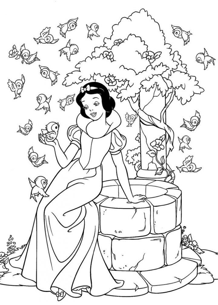 Princess Snow White Coloring Pages For Kids Printable