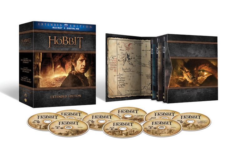 In DVD though! The Hobbit Extended Edition Trilogy giftset is the same packaging as the LOTR Extended Edition on Blu-ray. Available Nov. 17.