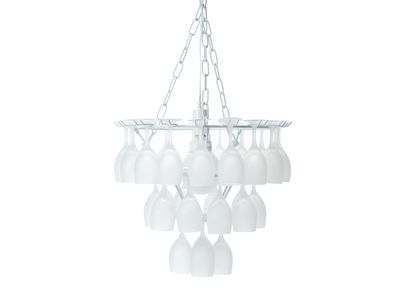 dwell - Wine glass chandelier frosted - £199