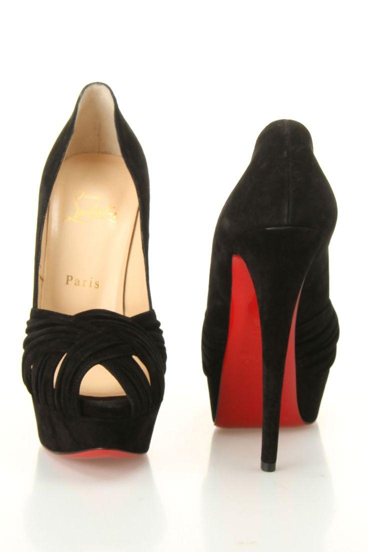 Black Louboutin pumps