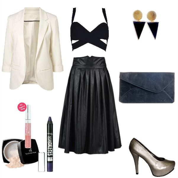 Outfit Formal Outfit Falda negra, formal  en Colombia
