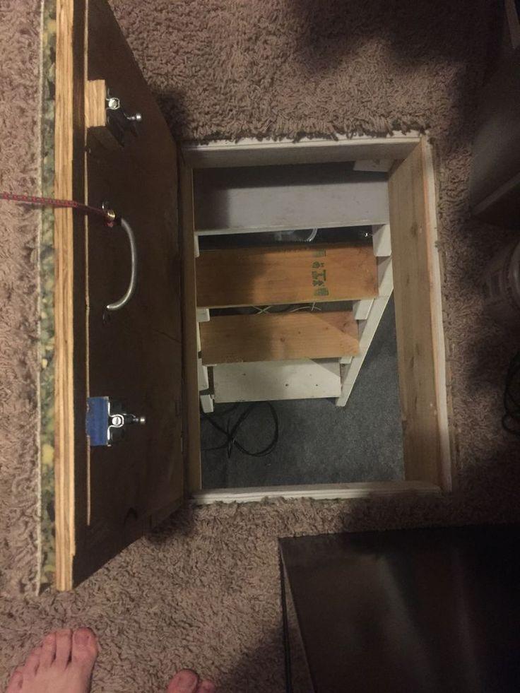 secret floor door... safe room... extra storage... access to under the house.
