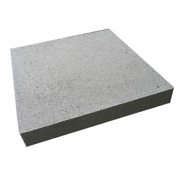 Chapeau de pilier plat en terre cuite, coloris gris, 3x25x25 cm