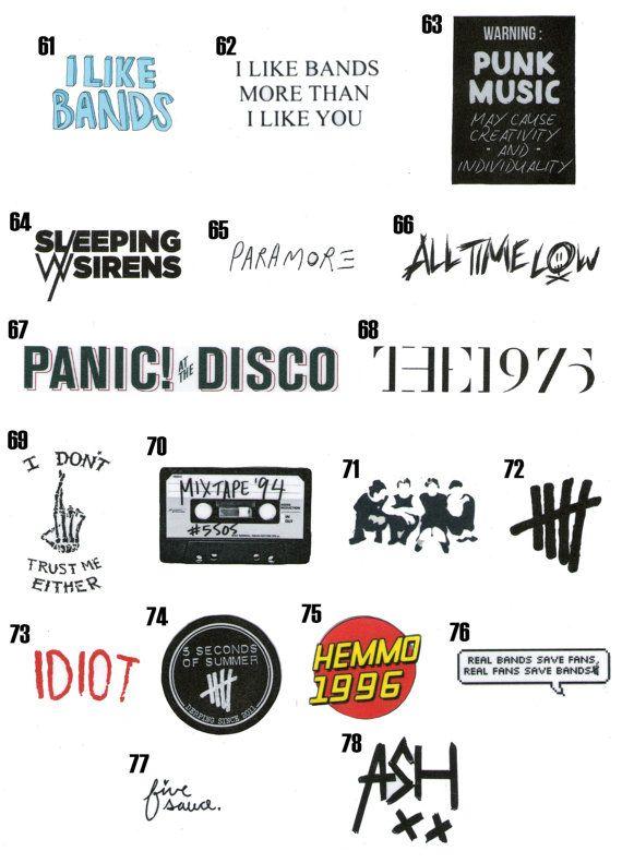 Tumblr Stickers (Pick 10) | Tumblr | Illustration, Bandas ...