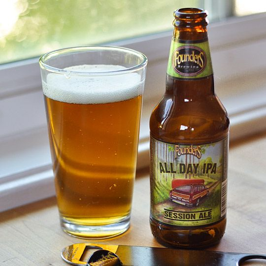 All Day IPA Session Ale from Founders Brewing Company, Grand Rapids, Michigan (India Pale Ale, 4.7% ABV. Currently only available in Michigan, Ohio, North Carolina, and the Chicago-area.)