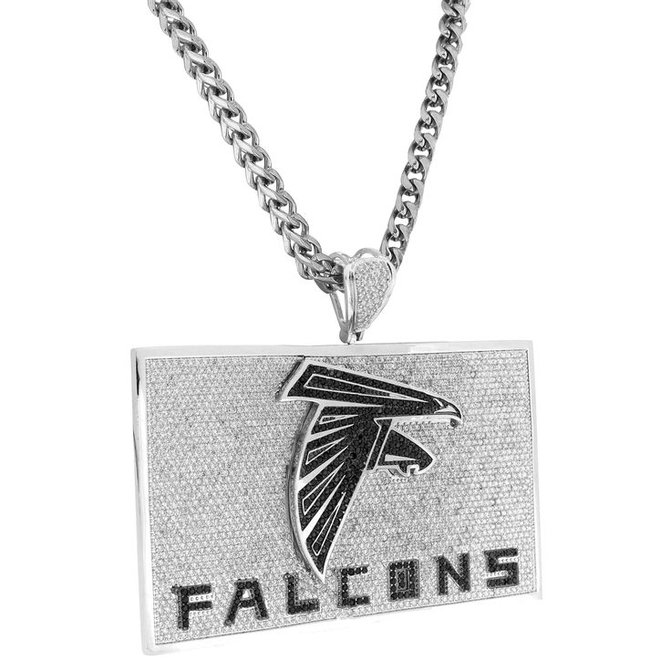 Falcons Pendant Atlanta Football Team Chain Pendant Set