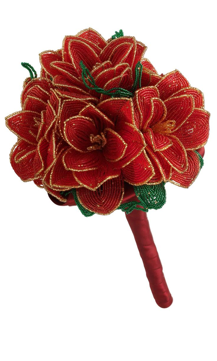 Jewelry Design - Flower Bouquet with Czech Glass Seed Beads and Dyna-Mites™ Seed Beads - Fire Mountain Gems and Beads
