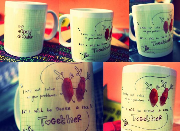 From an emotion to an idea then scribbling on a paper...Now a product   #exicted #Happy #Fun #Doodle #Mug #Love #Emotions
