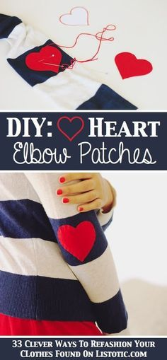 Add elbow patches. Super cute for grown-ups but really cute to add to kids clothes.