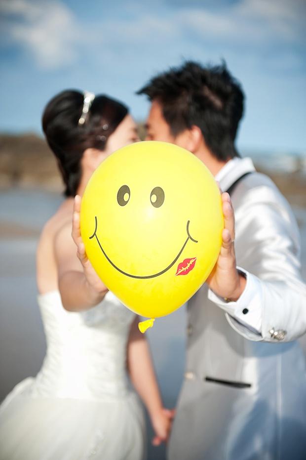 Smiley wedding!