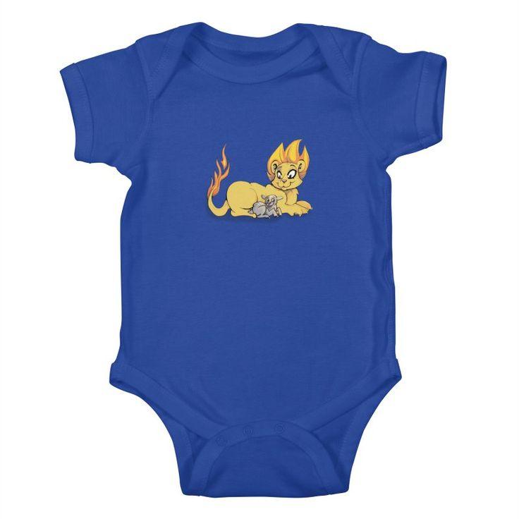 Lion and Lamb Kids Baby-Bodysuit by tigiris