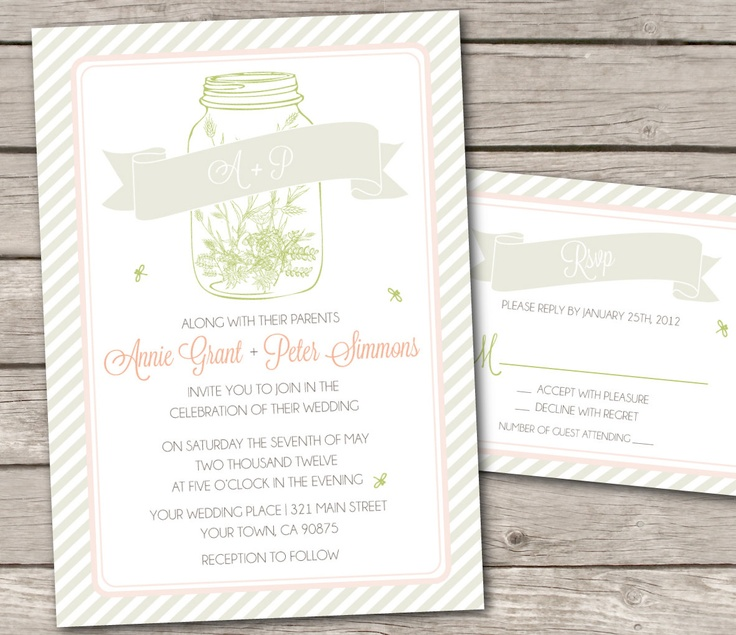 country chic wedding invitations - Google Search
