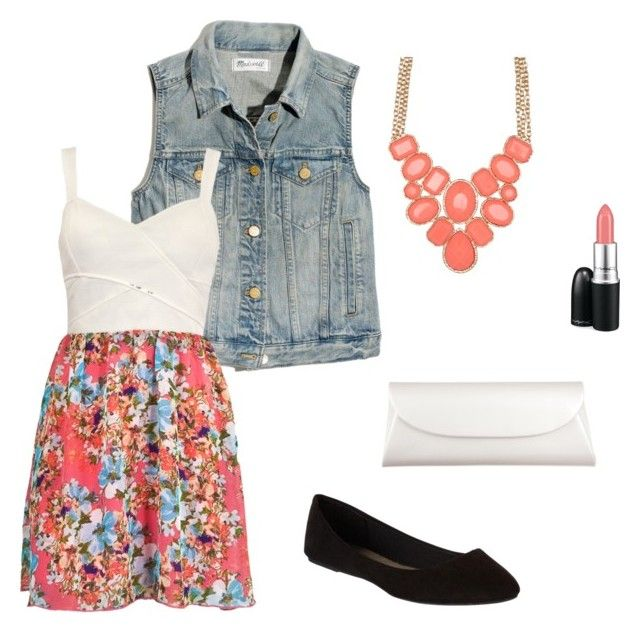 Coral Floral by paigiepeaches on Polyvore featuring polyvore, fashion, style, Madewell, dELiA*s, ALDO, MAC Cosmetics and floralprint