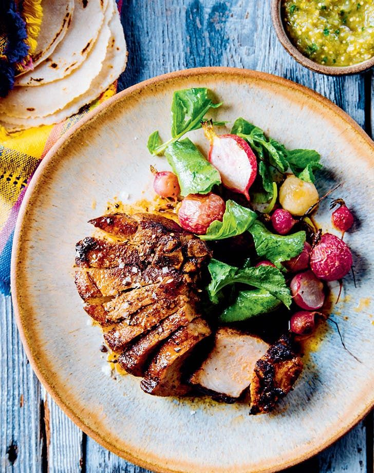 Health dinner pork chops