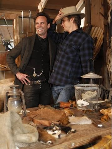 Boyd and Raylan - 2 adorable badasses!  I hate that this is the last season for Justified... if you haven't seen it yet, start from Season 1...  one of the best shows ever!