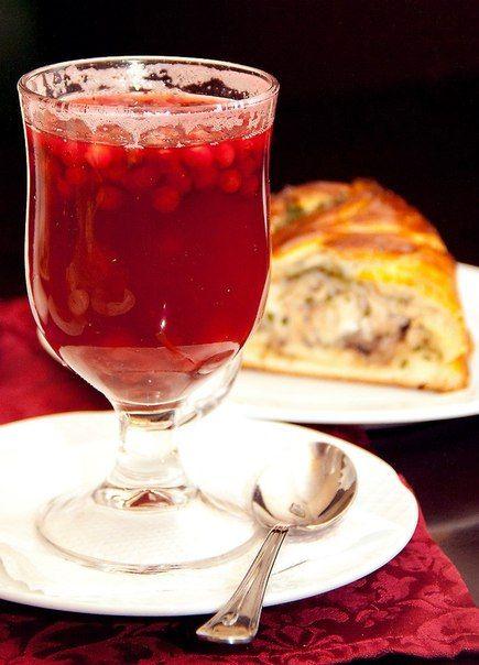 Брусничный чай)