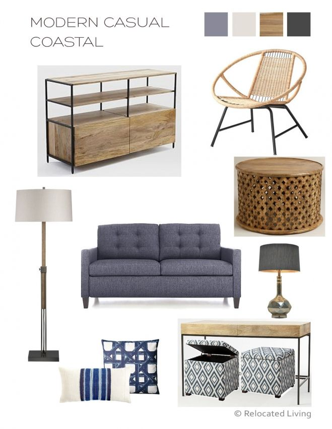redesign/rethink the use of space in her house. She's planning a major kitchen remodel in the next few months, but also wants to freshen up her bathrooms and give the other rooms a breath of fresh air. I've put together a mood board for their living room. Like most living rooms it has to serve multiple purposes, in their case it needs to be: 1) a space for adult entertaining, 2) a kid friendly space, 3) a place for overnight guests, 4) a place to watch TV, and also
