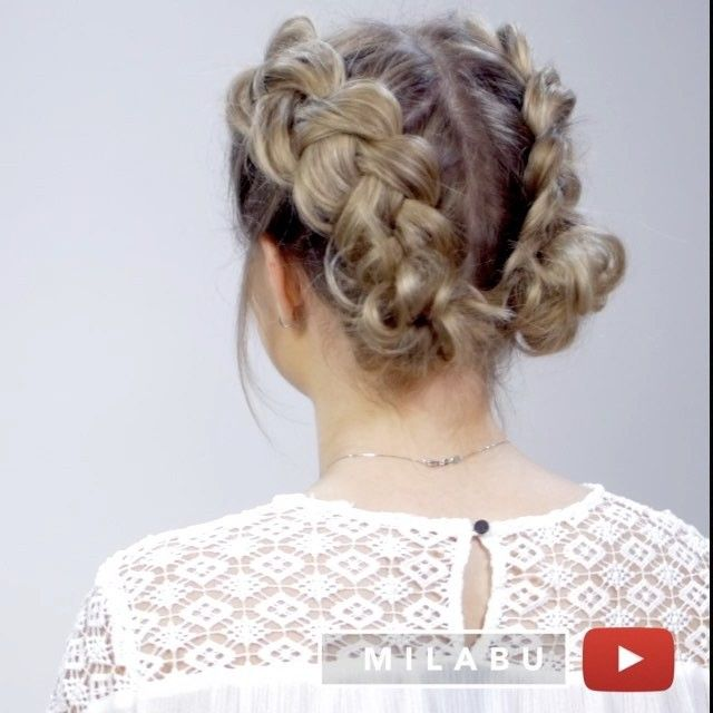 "WEBSTA @ milabu09 - Another easy short hairstyle with double dutch braids. Which one do you like better: pigtails or messy buns? ・▹Music: @jonarekulsveen ""Into The Blue"" @hair.video @peinadosvideos @hair.videos @hairvideodiary @hairs @hairspost.s @tutorialfashionvideo @glamvids @tutoriaisinspirations @stlyeartists @fashionarttut #milabu09"