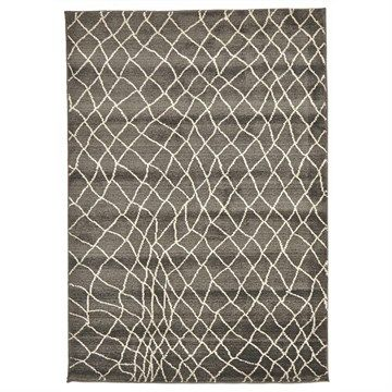 Egyptian Made Moroccan Web Design Rug in Grey - 330x240cm