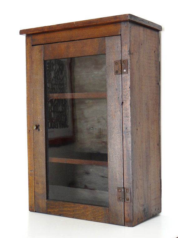 Antique apothecary cabinet or medicine cabinet, wall hanging, early 1900's