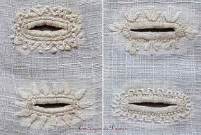 Broderie : boutonnières, 1828, blanc, 19e siècle, 1820s