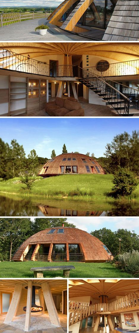Dome Home Design Ideas: Sustainable And Rotating Eco Dome Home