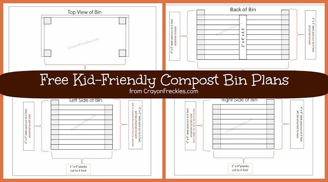 Plans for a DIY Compost Bin with Kids