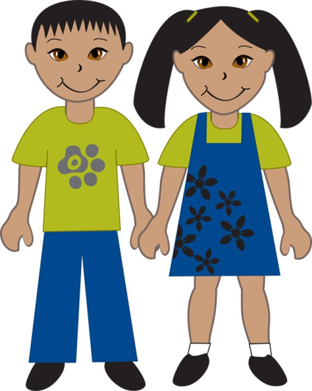 Kids Of Diverse Races: Asian Boy and Girl
