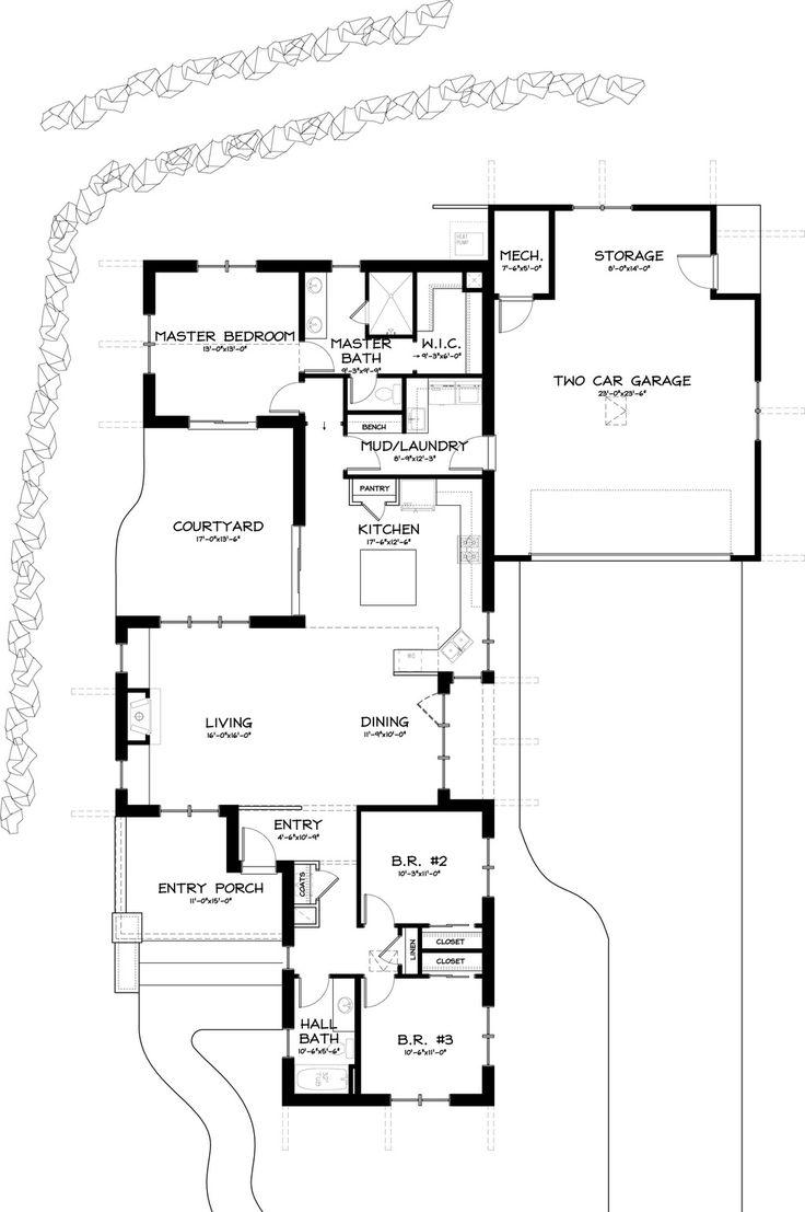 Square Kitchen Floor Plans 17 Best Ideas About Square House Plans On Pinterest Square Floor