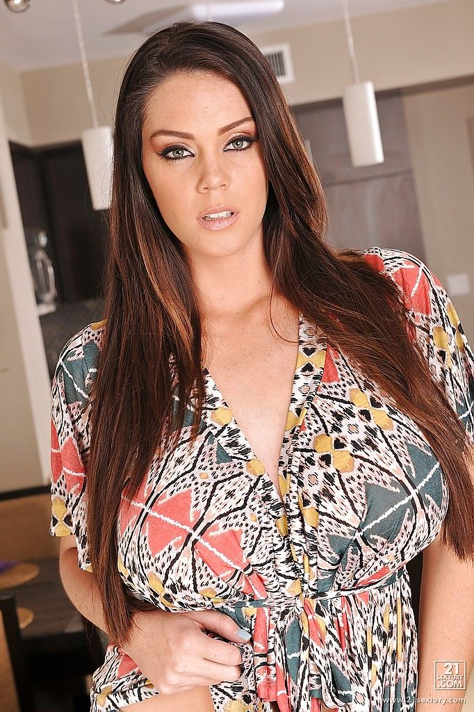 Alison Tyler in a flashy dress | I want her | Floral tops ...