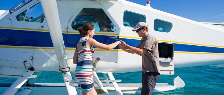 Seaplane excursion around the Hamilton Island would be a fun way to see Heart Island and snorkle