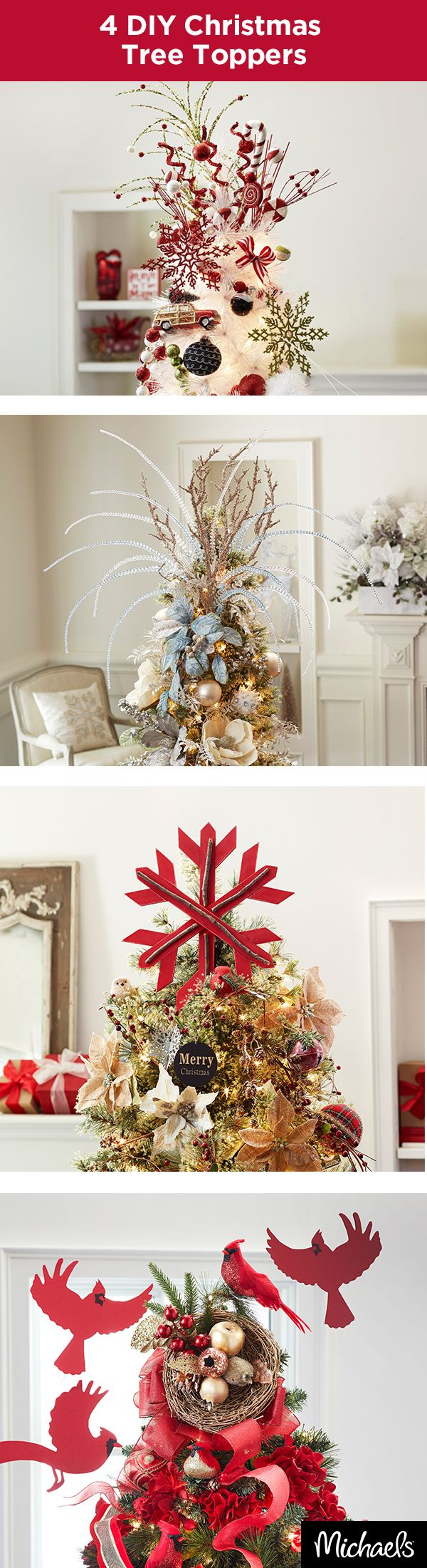 Craft A Unique Topper For Your Christmas Tree This Holiday Season Use Colors And Elements From Your D Cor Theme To Make Something That Really Stands Out