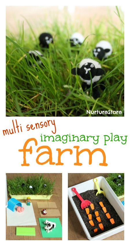 Love this pretend play farm - great for imaginary and sensory play