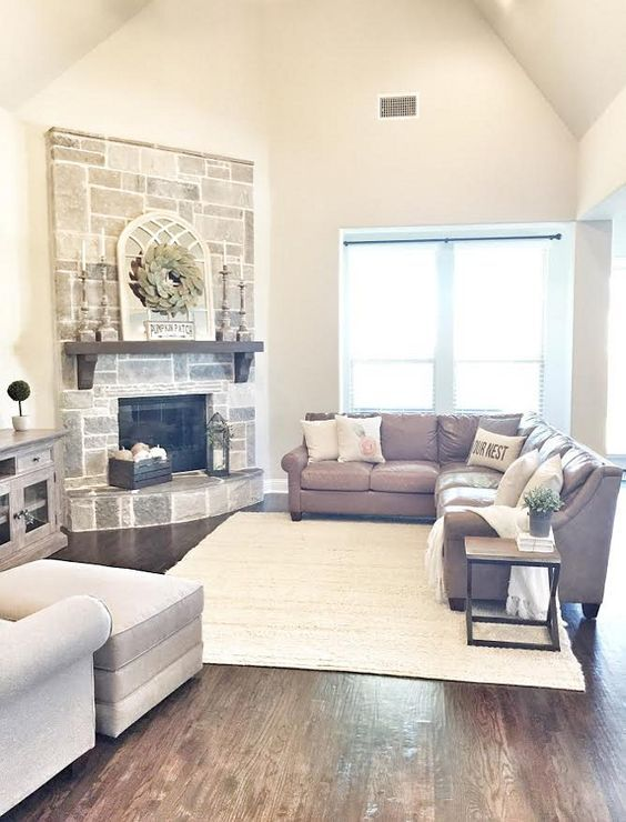 Two Storey Ceiling Living Room What I Loved Most About This Home When Choosing The Rock FireplacesCorner