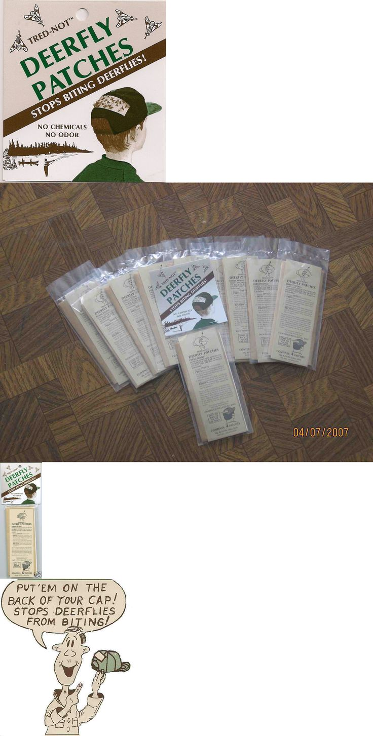 Insect Nets and Repellents 65965: 40 Pk Deerfly Patches Deer Fly Insect Patch Stop Bites. (Ten 4 Pks) Tred-Not -> BUY IT NOW ONLY: $30 on eBay!