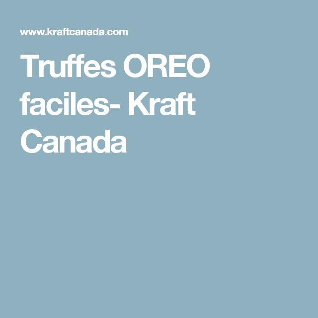 Truffes OREO faciles- Kraft Canada