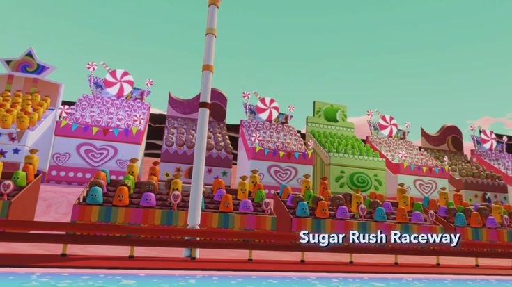 The Sugar Rush Citizens are little candy people who live in the game Sugar Rush. They are made up of many kinds of different candy. Each candy is shown cheering for a specific racer. Trivia The cat animal crackers are the only citizens animated on the inside of their crackers rather than the outside.