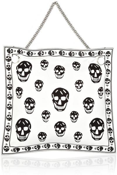 ALEXANDER MCQUEEN Skull-print Chain-strap Tote