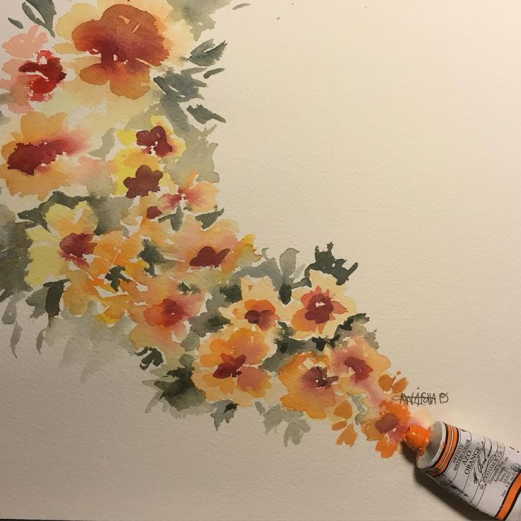 """""""One of my favorite paints that I have! The color and the paint are great. It's Azo Orange, M. Graham & Co. """""""