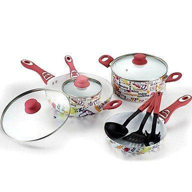 naluo European Decals Non-Stick Cookware Set Aluminum 25*13.8*7.7