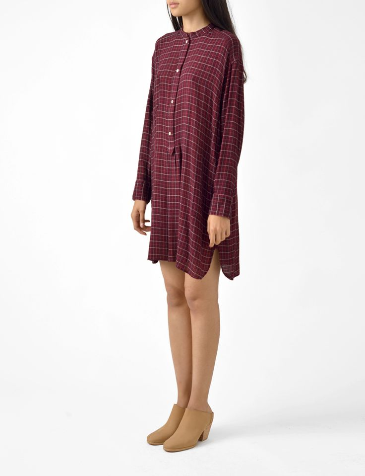 Cheap Usa Stockist Plaid cotton shirt dress Isabel Marant From China Cheap Online Big Discount Clearance Exclusive Jy8kGW