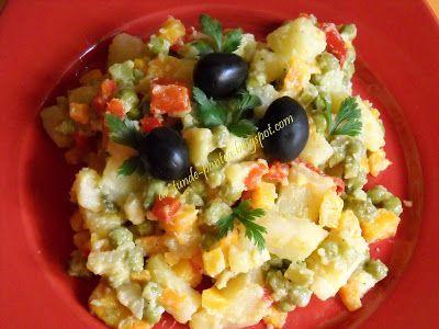 "AMIDON: salata de boeuf ""falsa""- fara maioneza - dieta Rina 90"