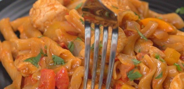 fajita chicken pasta.