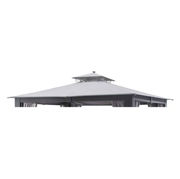 Shop allen + roth  Replacement Canopy for 12-ft x 10-ft Wicker Gazebo at Lowe's Canada. Find our selection of gazebos at the lowest price guaranteed with price match + 10% off.