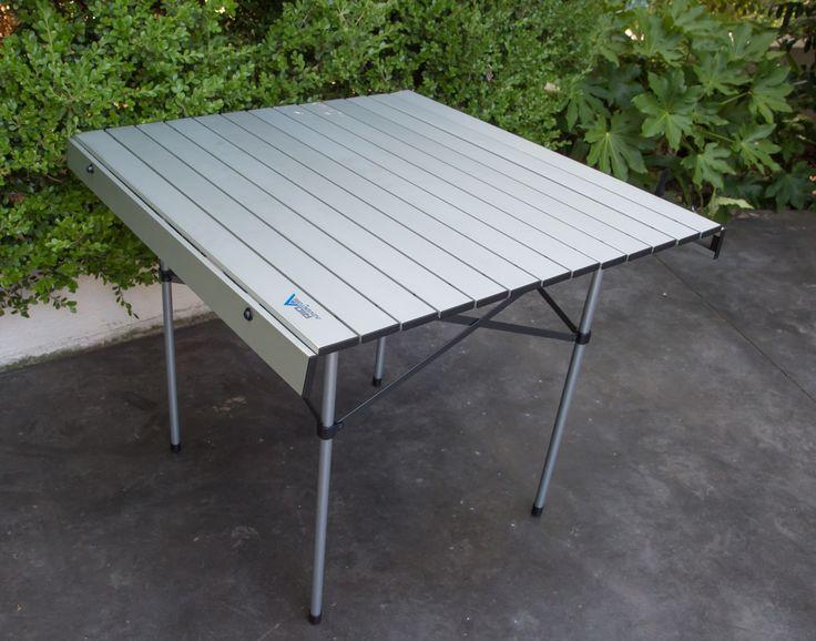 aluminium roll top table 2