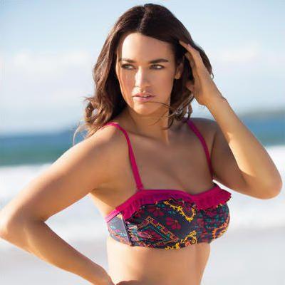 Patagonia - Women's Solid Kupala Top - Haut de bikini taille XL, rouge/rose