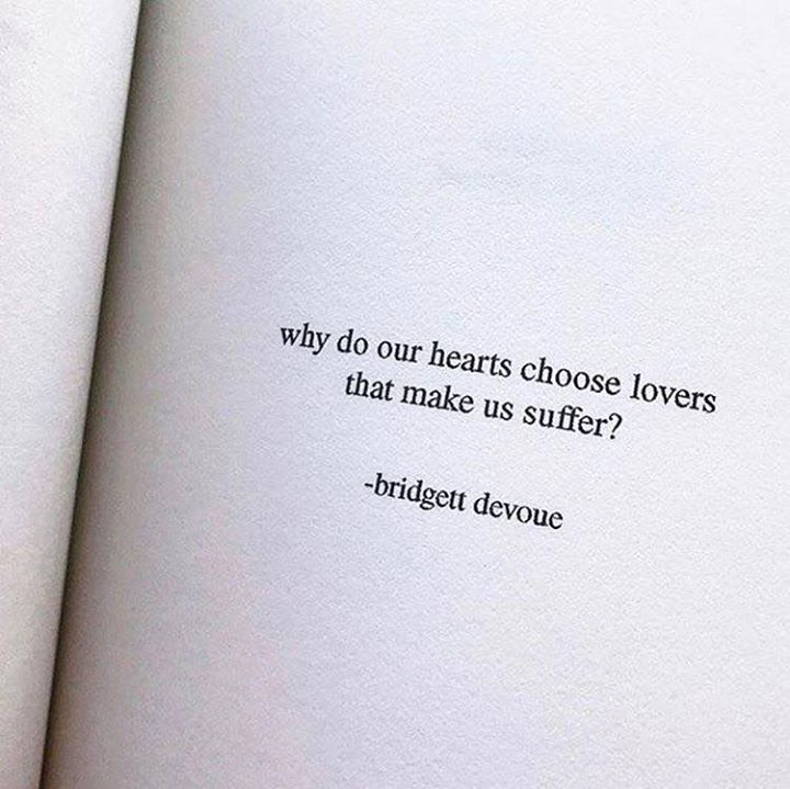 why do our hearts choose lovers that make us suffer? via (http://ift.tt/2mz1QMO)