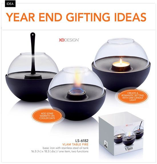 Corporate Christmas Gift Ideas Vlam Table Fire