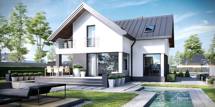 Projekt domu HomeKONCEP 9 #homekoncept #projektdomu #domnowoczesny #domjednorodzinny #stylhomekoncept #modernhome